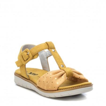 XTi sandales meitenēm Yellow Microfibre