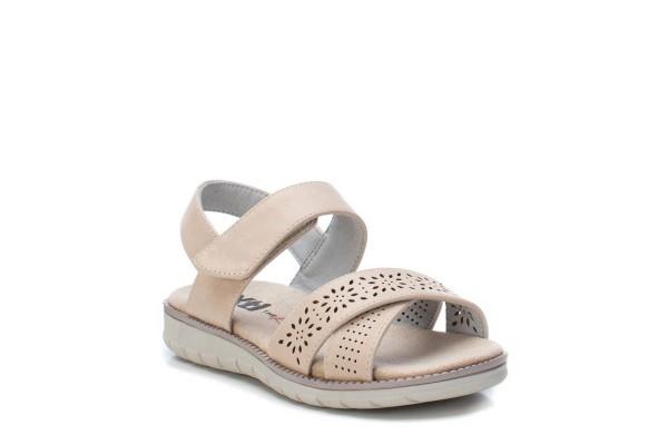 XTi sandales meitenēm Beige Textile