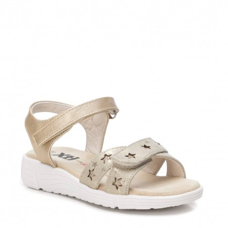 XTi sandales meitenēm Gold PU Kids